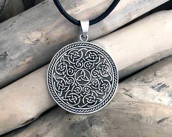 Sterling Silver Celtic Triquetra Pendant, Celtic Triangle Pendant, Celtic Trinity CLT033