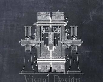 Tesla Electric Circuit Controller Patent Print Tesla Art Print