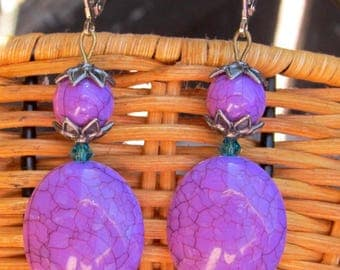 Lulu Final Fantasy X Regal Lavender Leverback Earrings FF10 FFX Cosplay Final Fantasy 10