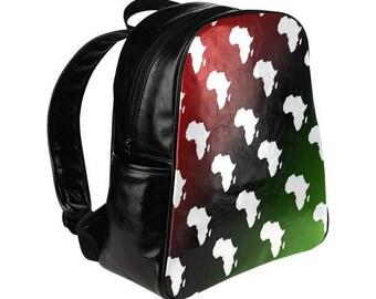 RBG Africa Backpack // Red Black Green // Unapologetically Black // Black Power Bag // Africa Bag // Black Pride
