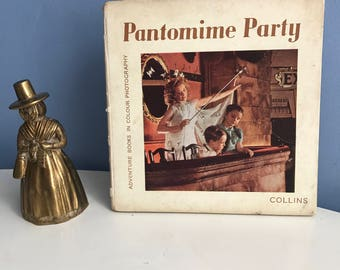 Pantomime Party Picture Book. Colour Camera Books Collins. Children's Books 1940s. Photography by Alexander Bender. Text by Eileen Ritchie.