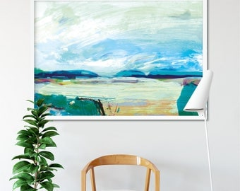 Printable Abstract Art, Abstract Landscape Painting, 24x36 Print, Instant  Download Art, Large Part 76