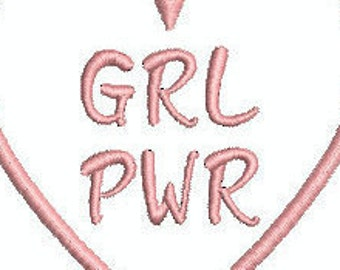 Girl Power Machine Embroidery Designs