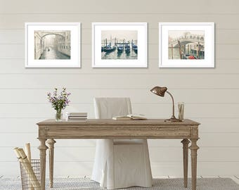 SALE, Venice Prints, Venice Italy Photography, Set of 3 Prints, Fine Art Prints, Travel Decor, Europe Wall Art, Cream, Neutral, Home Decor