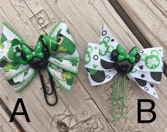 St. Patrick's Day Minnie Mouse Disney Planner Bow Clip