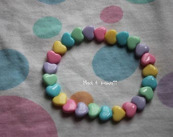 Kawaii heart bracelet