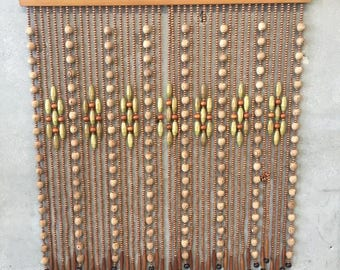 Mid Century Modern Wood Doorway Beads (QW86T9)