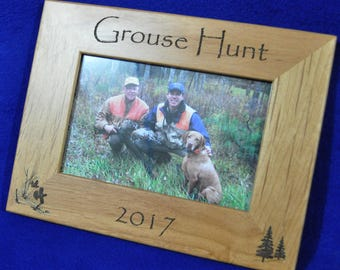 Hunting Frames ~ Grouse Hunting Frame ~ Hunting Gift ~ Gift For Hunter ~ Hunting Picture Frame ~ Grouse Hunter Gift ~ Grouse Hunting ~ Hunt