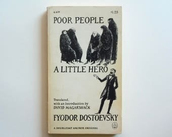 Edward Gorey Fyodor Dostoevsky Poor People and A Little Hero Doubleday Anchor Original Paperback 1968