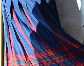 Pendleton Pleated Plaid Wool Skirt