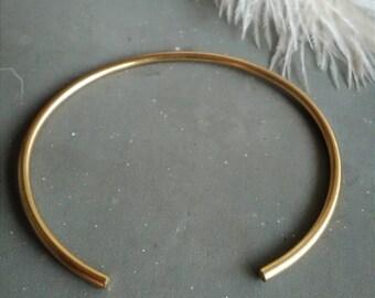Smooth gold cuff bracelet, plain gold cuff, simple gold cuff bracelet, minimalist gold cuff, gold bracelet, cuff bracelet, gift for her