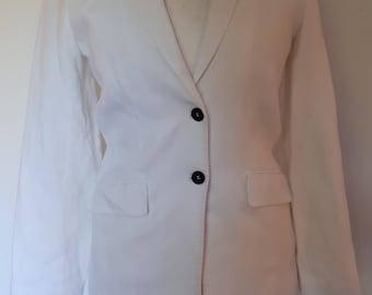 Vintage linen jacket blazer by Jaeger white linen blazer size small