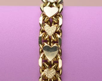 Vintage Heart Chain & Link Bracelet