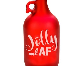 Beer, Beer growler, Jolly AF, Gifts for dad, Growler, Christmas gifts, Beer hops, Beer glass, dad gifts, Gifts for dad, Limited Edition