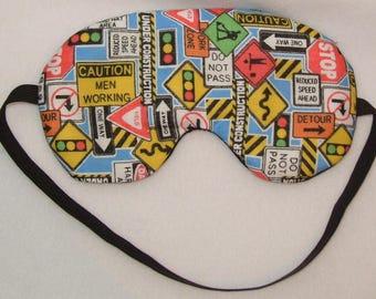 Handmade Road Signs Sleep Eye Mask Blindfold Hen Blackout Migraine