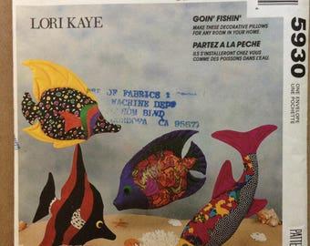 McCalls 5930 - Lori Kaye Large Plush Tropical Fish Goin' Fishin' Craft Pattern