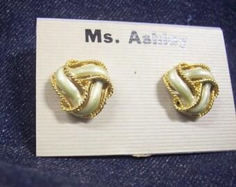 Vintage 1980's Fashion Pierced Earrings.