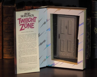 Twilight Zone Vintage Hollow Book Safe - Rod Serling's Twilight Zone, magnetic snaps, Unique Decorative Book Safe
