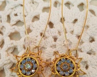 """Blue Moon  EE-101  """"Blue Opal Crystals"""