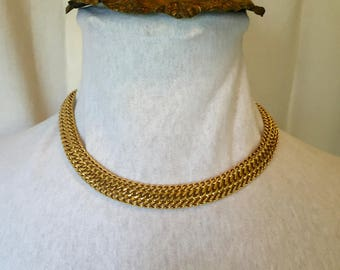 Vintage MONET thick gold chain necklace
