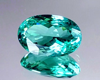 GIA Certified 4.87ct Paraiba Tourmaline Bluish green, IF clarity from mozambique.see video