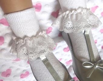Easter Socks Ruffled Socks Lace Socks  Baby Socks Little Girl's Socks Infant Sock Toddler Sock  Frilly Sock BabyGift Newborn Sock Girls Sock