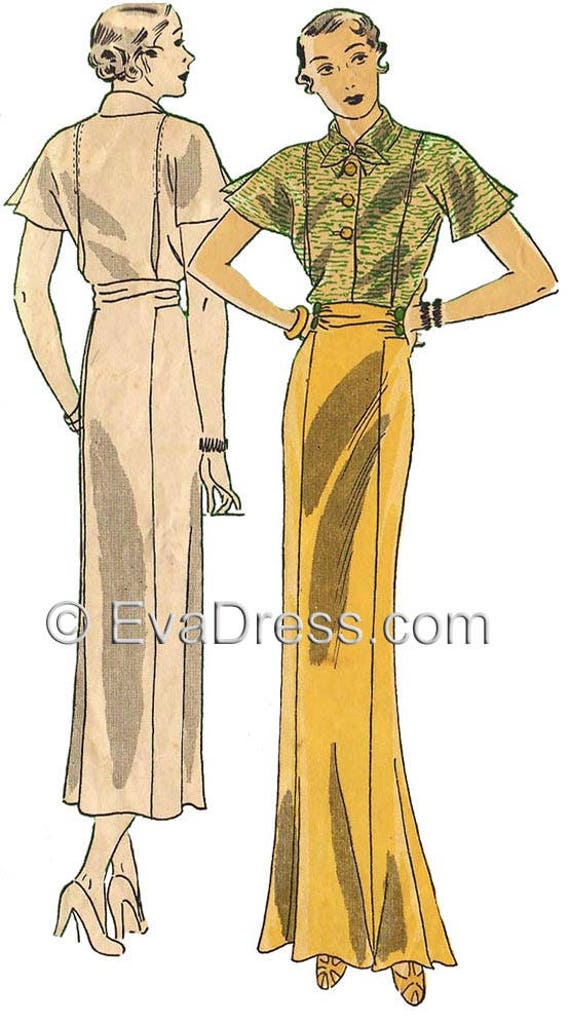 1930s Dresses, Clothing & Patterns Links 1936 Dinner Ensemble by EvaDress Patterns! $28.00 AT vintagedancer.com