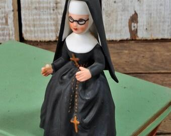 Vintage St. Francis Nun Lefton Exclusives Japan 1960's Figurine bisque SISTER SUPERIOR Nun 460