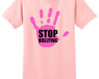 Anti Bullying Stop Bullying T-Shirt school pink shirt day