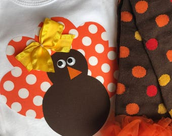 Baby girl Thanksgiving outfit - Thanksgiving leg warmers - baby girl Thanksgiving onesie - Thanksgiving outfit