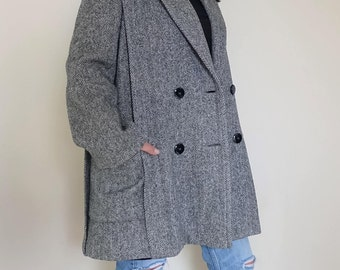 Vintage Herringbone Coat US 4/6