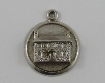 Old Stone House Sault Ste. Marie Sterling Silver Vintage Charm For Bracelet
