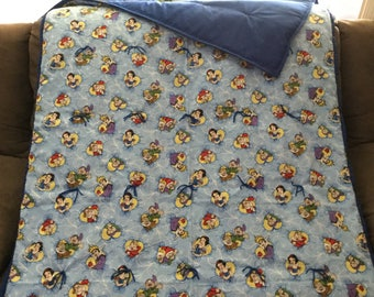 Snow White and the 7 Dwarfs flannel blanket