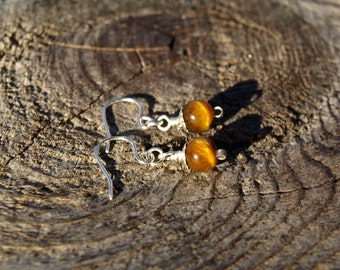 Tigers Eye//925 Sterling Silver Earrings