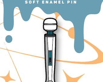 Magic Wand Massager Soft Enamel Pin