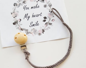 Dummy clip / Pacifier clip/ Dummy chain/ Faux Leather dummy chain/ Christmas gifts for baby