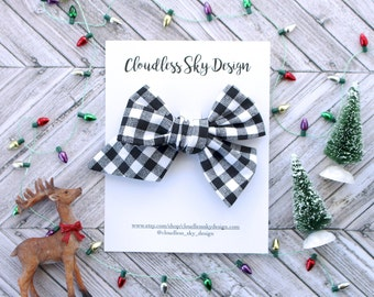 plaid bow, hair bows, christmas bows, oversize bow, baby hair bow, hair bow for girls, toddler hair bow, bows for girls, holiday bow