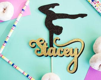 Custom Gymnastics Cake Topper, Gymnast Cake, Gymnastics Party, Personalized Gymnast, Custom Cake Topper, Gymnast Cake Topper, Gymnastics
