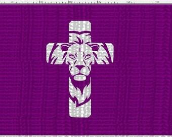 Lion cross svg, svg, Easter, Easter svg, Lion cross svg, cross svg, Christ svg, religious svg, cut file, cricut, silhouette
