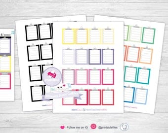 Clipboard planner stickers clipboard stickers erin condren planner stickers printable stickers planner full box stickers planner printable