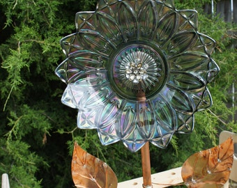 Glass Bowl Plate Flower