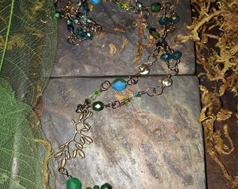 Green Forest Elven Druid necklace