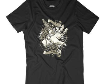 TATTOO SHIRT Vintage tattoo t-shirt Hipster tattoo shirt Vintage tattoo art shirt Stabbed in the back shirt Knife tattoo art shirt APV70