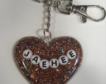 Mystic Messenger- Jaehee Inspired Heart Keychain
