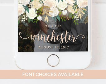 WEDDING SNAPCHAT GEOFILTER Floral, Snapchat Geofilter Wedding,Wedding Day Geofilter,Floral Wedding Filter,Floral Geofilter,Wedding Geofilter