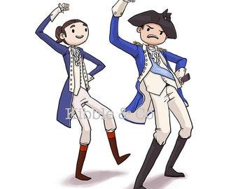 Hamilton Musical, Alexander Hamilton, Hamilton Art, Washington, Lin Manuel Miranda, Art Print, Chris Jackson, Broadway,Print, Right Hand Man
