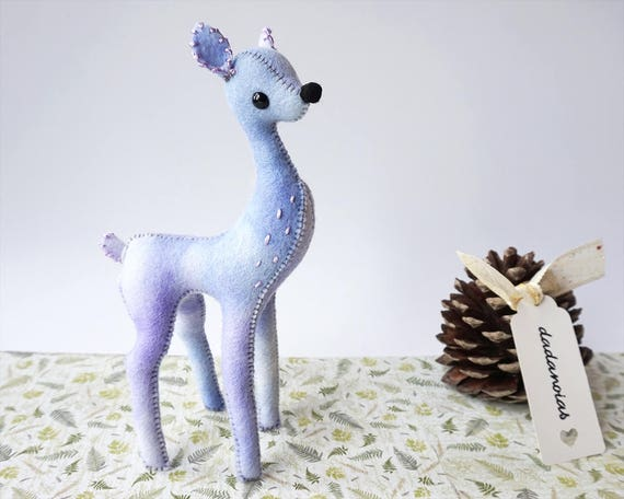 OOAK Plush | Art Doll | Handmade Creature | Deer | Fawn Miniature | Deer Doll |  Kawaii Soft Toy | Fawn Fairy | Baby Deer | Wool Felt