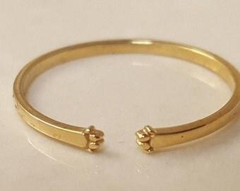 Dog Paw Ring - Memorial pet jewelry - Paw print ring