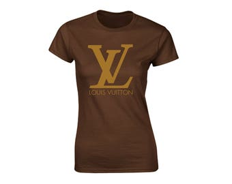 Louis Vuitton Inspired Graphic Brown or White Womans T-Shirt