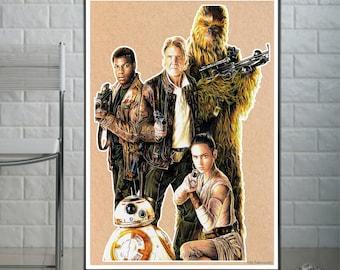 Star Wars - Fine Art Print - A4/A3